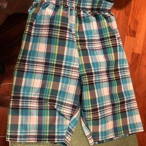 Other - Multicolor blue green and white cargo shorts